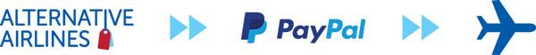 alternative airlines  y paypal iconos de pago